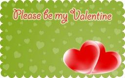 Valentine invitation stock image