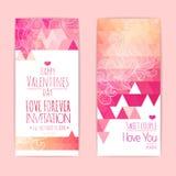 Valentine invitation card Royalty Free Stock Photo