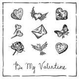 Valentine invitation card Stock Images