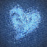 Valentine jeans heart background Royalty Free Stock Images