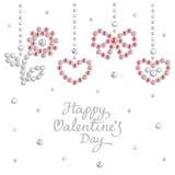 Valentine jewel background Royalty Free Stock Photo