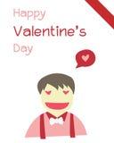 Valentine-jongen Stock Afbeeldingen