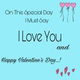 Valentine& x27 ; jour de s Images stock