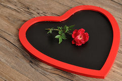 Valentine& x27 ; jour de s Un tableau noir de forme de coeur Image libre de droits