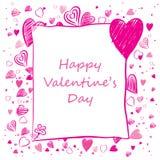 Valentine-kaart Stock Afbeeldingen