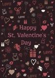 Valentine-kaart Stock Foto's