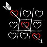 Valentine-kaart van liefde Stock Foto's