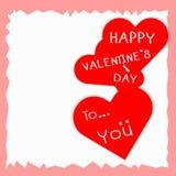 Valentine-kaart van liefde Royalty-vrije Stock Afbeelding