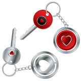 Valentine keyholder design Royalty Free Stock Images