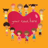 Valentine kids Stock Images