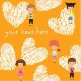 Valentine kids Royalty Free Stock Photos