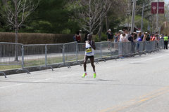 Valentine Kipketer kenya races in the Boston Marathon coming in 15th with a time of 2:29:35 on April 17, 2017 Stock Photography