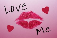Valentine Kiss Royalty-vrije Stock Afbeeldingen