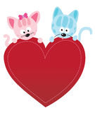 Valentine kitties Stock Image