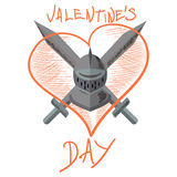 Valentine knight Stock Images