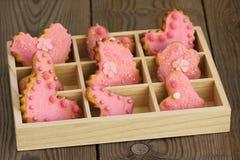 Valentine-koekjes Royalty-vrije Stock Afbeeldingen