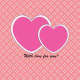 Valentine& x27; kort för s-daghälsning arkivfoto