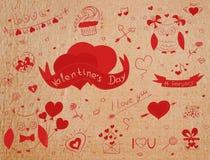 Valentine-krabbels Royalty-vrije Stock Fotografie