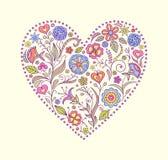 Valentine kwiecisty serce ilustracji