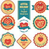 Valentine label Stock Photography