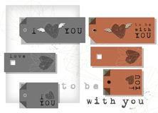 Valentine labels Stock Image