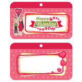 Valentine labels Stock Images