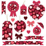 Valentine labels Stock Images
