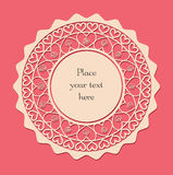 Valentine lace card_1 Stock Photography