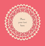 Valentine lace card_2 Royalty Free Stock Images