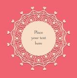 Valentine lace card_3 Stock Photos