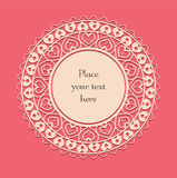 Valentine lace card_4 Royalty Free Stock Images