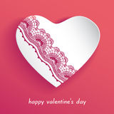 Valentine  lace hearts gift card Stock Photos