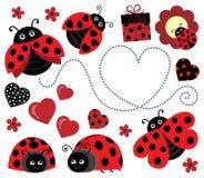 Free Valentine Ladybugs Theme Image 2 Royalty Free Stock Images - 86089629