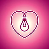 Valentine lamp Royalty Free Stock Images