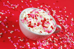 Valentine latte Stock Image