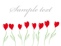 Valentine layout Stock Images