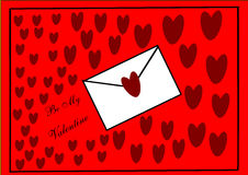 Valentine Love Letter Stock Photography