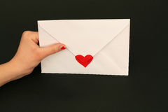 Valentine letter Royalty Free Stock Photos