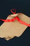 Valentine letter Stock Image