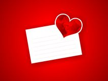 Valentine letter with red abstract heart. Valentine letter with the red abstract heart Stock Photos