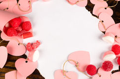 Valentine letter and treats Stock Image