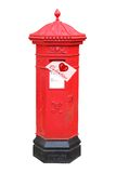 Valentine letter in Victorian postbox Stock Photography
