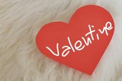 Valentine-liefdekaart Stock Foto's
