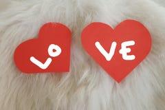 Valentine-liefdekaart Stock Afbeelding