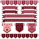 Valentine-linten Stock Foto