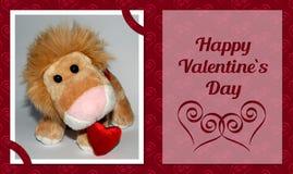 Valentine Lion Card Image libre de droits