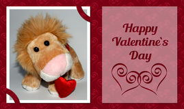 Valentine Lion Card Royalty Free Stock Image
