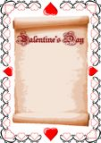 Valentine List Royalty Free Stock Photography
