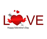 Valentine Logo. Logo Design for Valentine Day Royalty Free Stock Images