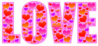 Valentine love. With lots of colorful hearts Royalty Free Stock Photos